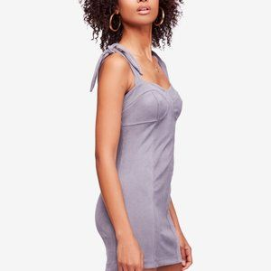 FREE PEOPLE Gray Ribbed Body Con Dress